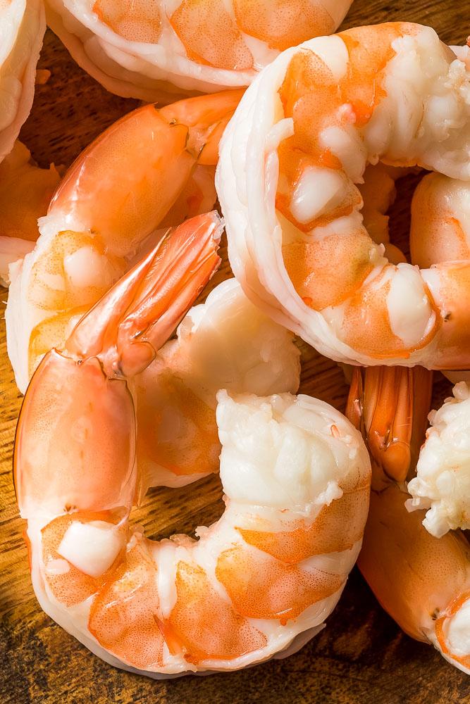 a closeup of instant pot shrimp